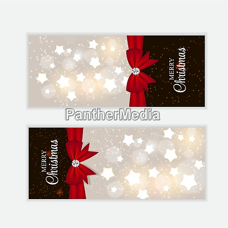 christmas website banner and card background