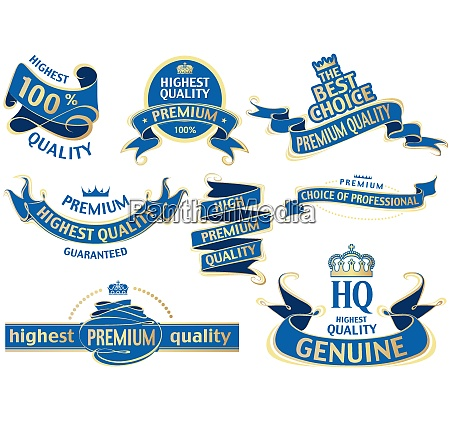 blue banner ribbon set