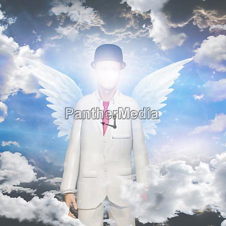 oculto oscurecido tiempo reloj destino angel