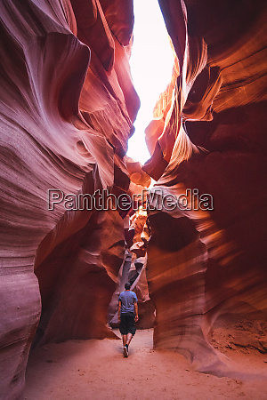 usa arizona tourist in lower antelope