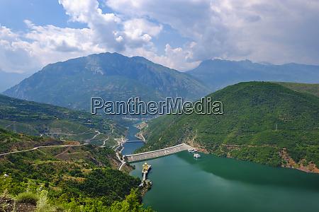 albania shkoder rio drin muro de