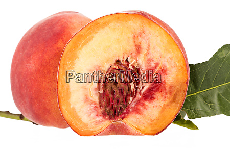fresh fruit of peach isolated on