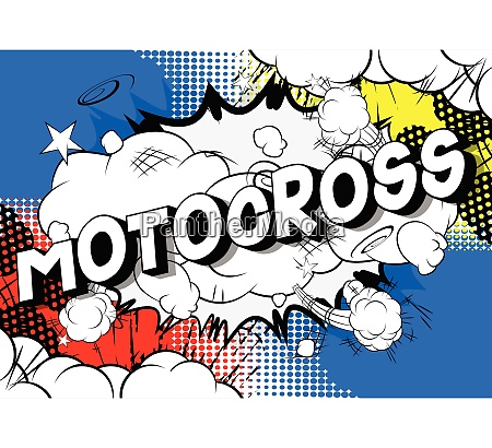 motocross comic book style words