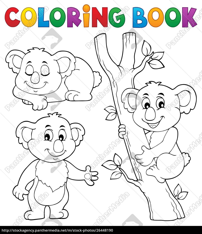 Stockphoto 26448190 Libro Para Colorear Tema Koala 1