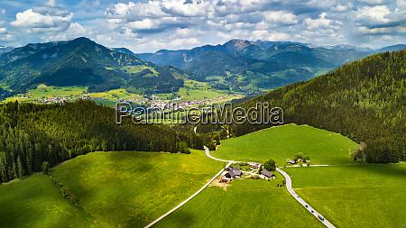 spring travel in austria green fields