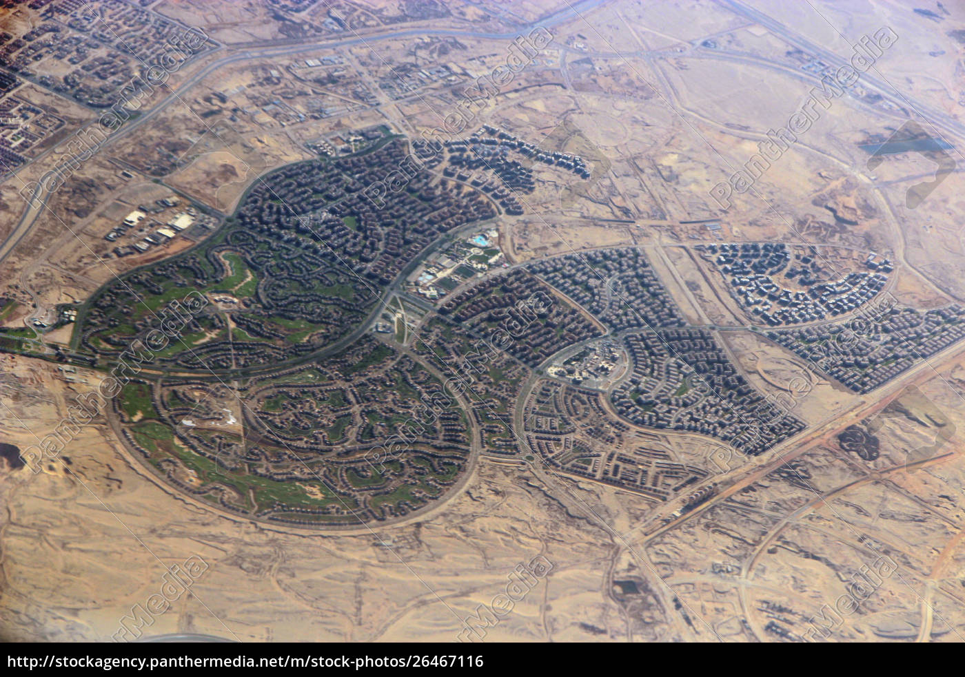 aerial, city, view, with, roads, , houses, - 26467116