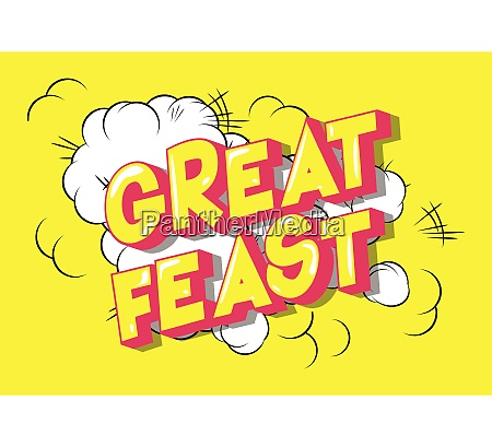 great feast comic book style