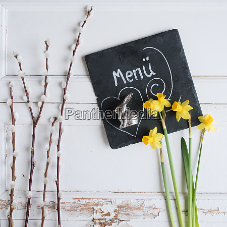 easter decoration for a menu