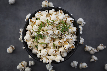 bowl of popcorn with parmesan and