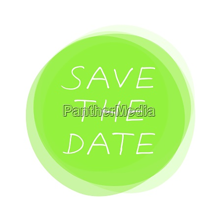 isolated light green round button save