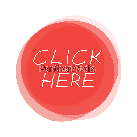 isolated red round button click here