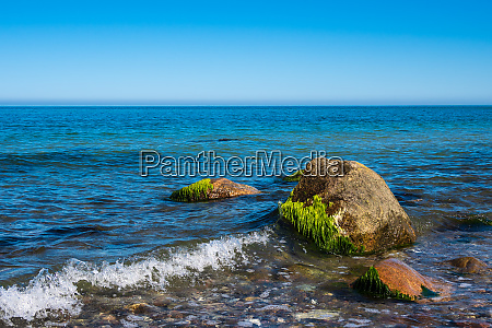 stones on shore of the baltic