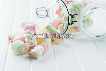 malvaviscos dulces y coloridos