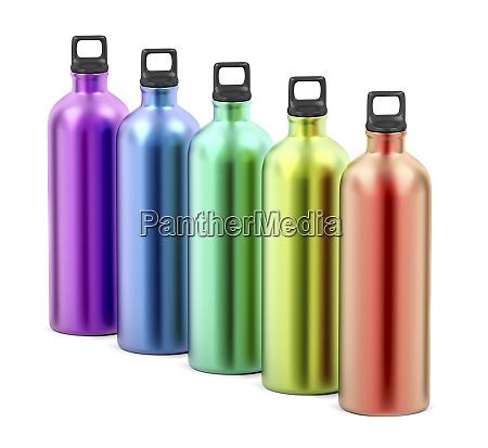 botellas de agua metalicas coloridas