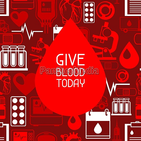 give blood today background with blood