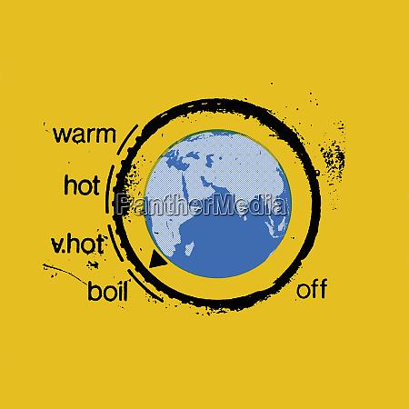 planeta tierra como termostato de calentamiento