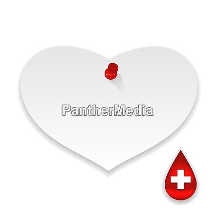 illustration donate blood save life paper