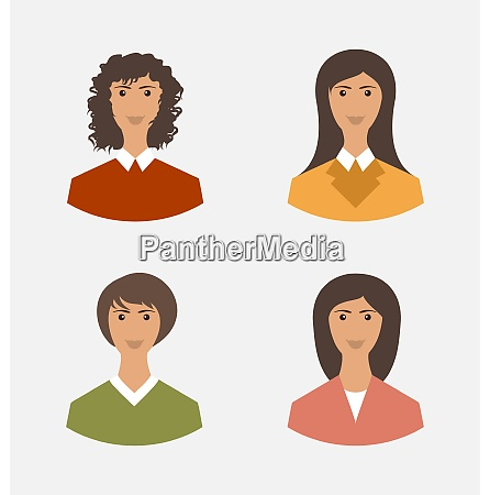 avatar set front portrait office employee