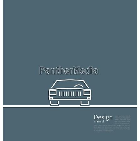 illustration logo of car front side