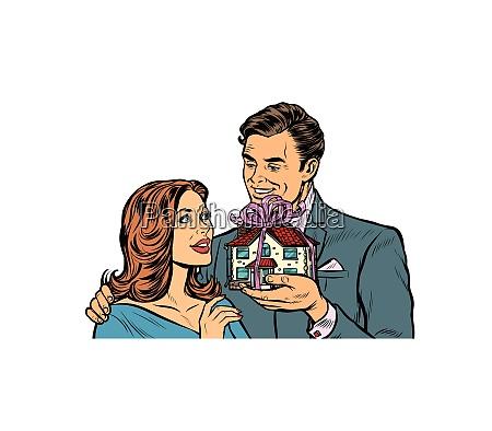 esposo y esposa casa como un