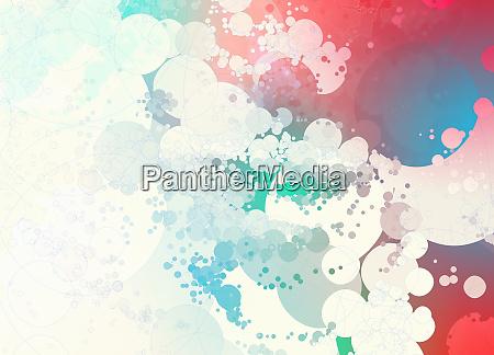 patron de burbuja abstracta de color