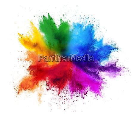 colorido arco iris de pintura de