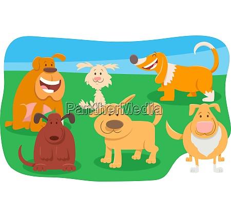 perros lindos personajes de dibujos animados