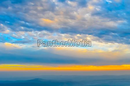 vibrant color cloud scape on a