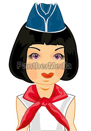 ilustracion vectorial de la chica con