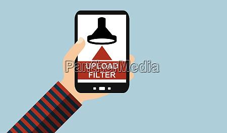 smartphone upload filter flat design
