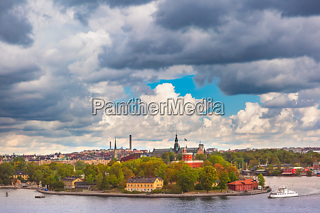 scenic view of stockholm sweden