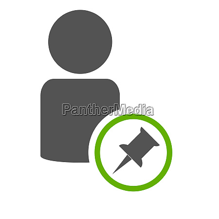 green reminder icon with people symbol