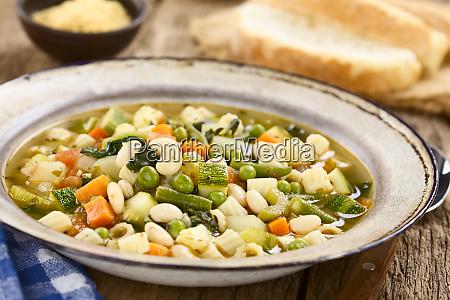 fresh homemade vegetable soup