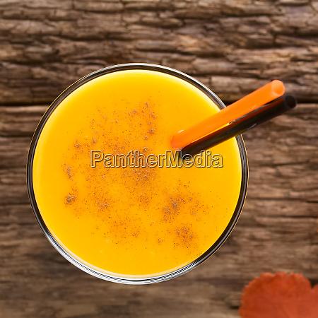 fresh pumpkin smoothie