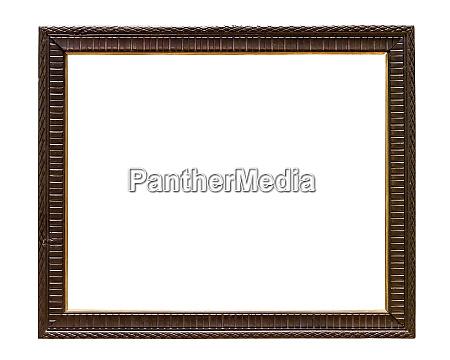 dark wooden decorative picture frame on