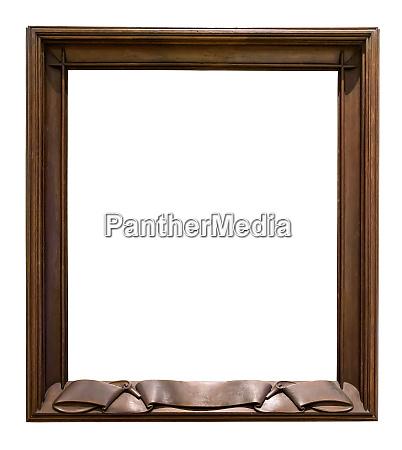 marco, decorativo, de, madera, oscura, en - 26996534