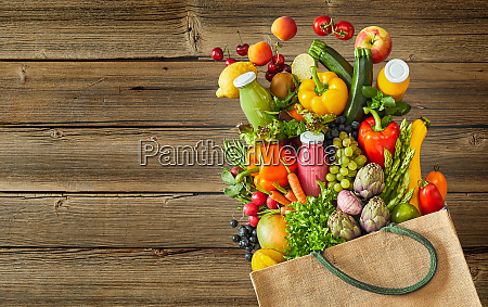 colourful farm fresh vegetables and fruit