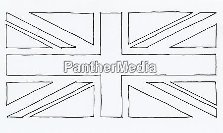 bandera dibujada a mano del reino