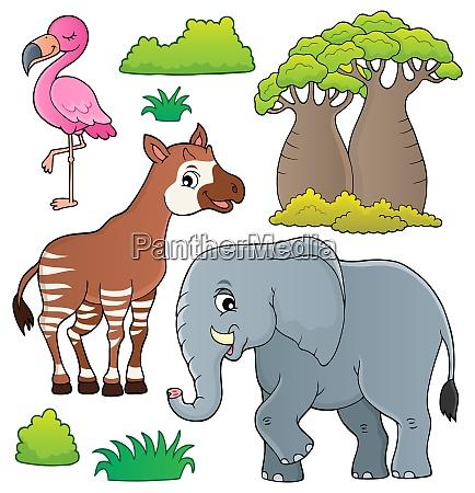 african nature theme set 4