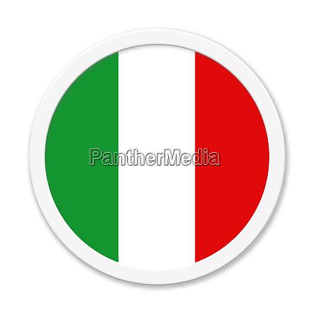 italy or italian round button