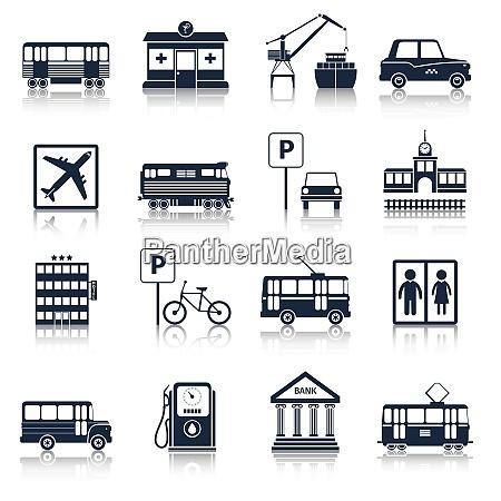 iconos, de, infraestructura, de, la, ciudad - 27146142