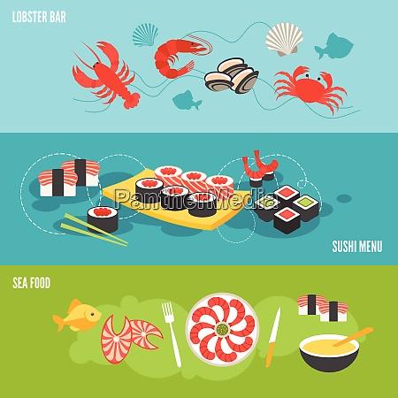 banner de mariscos con menu de