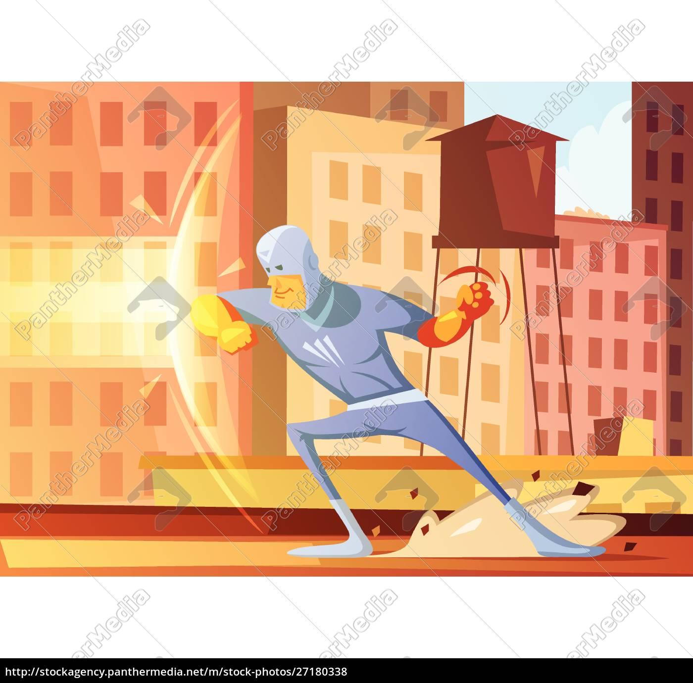 superhéroe, que, protege, la, ciudad, del - 27180338