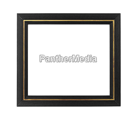 black picture frame with golden decoration
