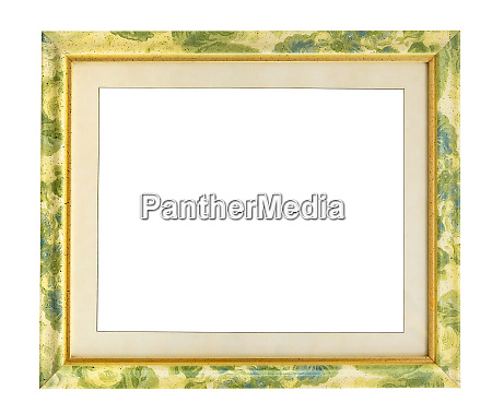 picture frame with green floral pattern