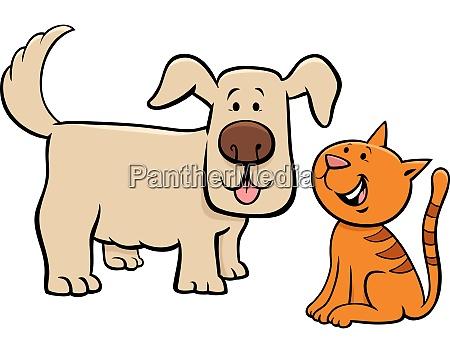 cachorro y gatito personajes de dibujos