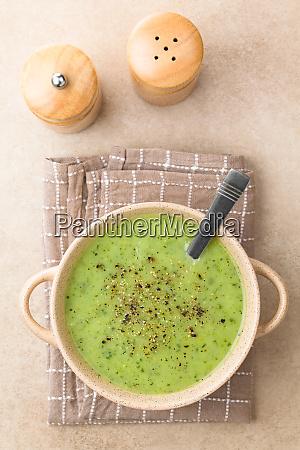 fresh homemade cream of zucchini soup