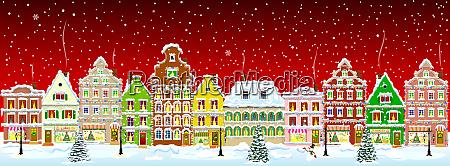 noche de nieve de invierno de
