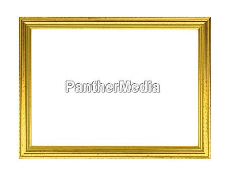 golden decorative empty picture frame