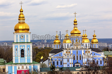 saint michael cathedral spires golden dome